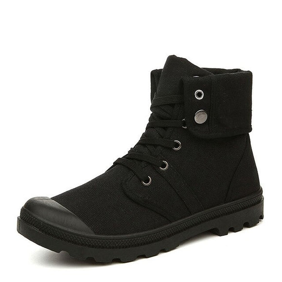 Men Autumn Winter Canvas Army Style Boots