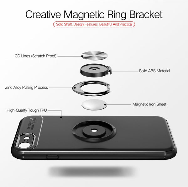 360 Rotating Ring Holder Phone Case For iPhone 6 6S 7 8 PLUS X