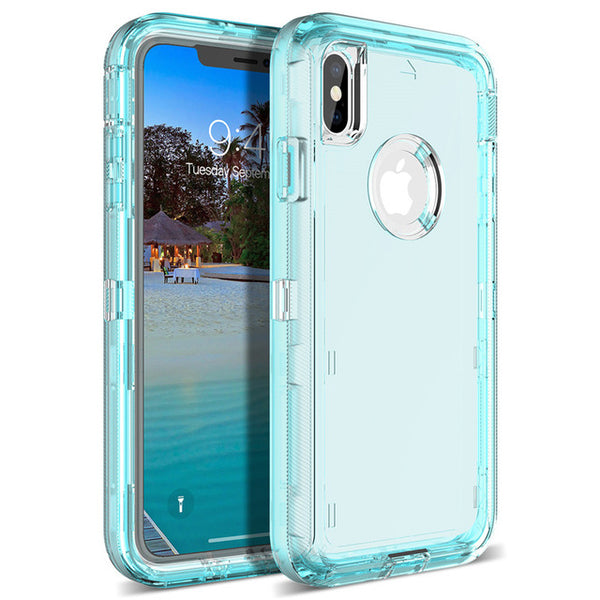 Phone Case - Luxury 360 Degree Full Cover Cute Clear Bling Protective Phone Case For iPhone XS/XR/XS Max 8/7 Plus