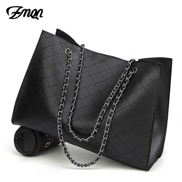 a0a2ee5db466 Women Bags - 2019 Designer Big Tote Hand Bag Chain Leather Handbag ...