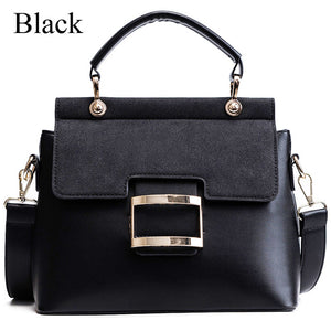Vintage Fashion Buckle PU Leather Crossbody Bags