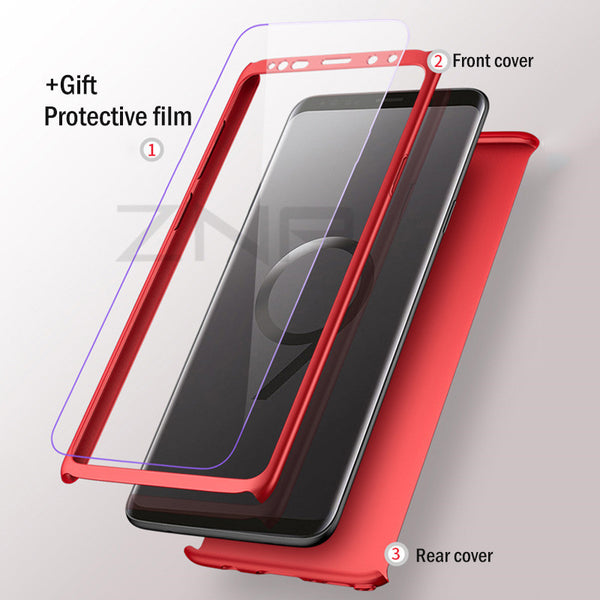 360 Degree Full Protective Phone Cases For Samsung Galaxy S9 S8 Plus Note 8
