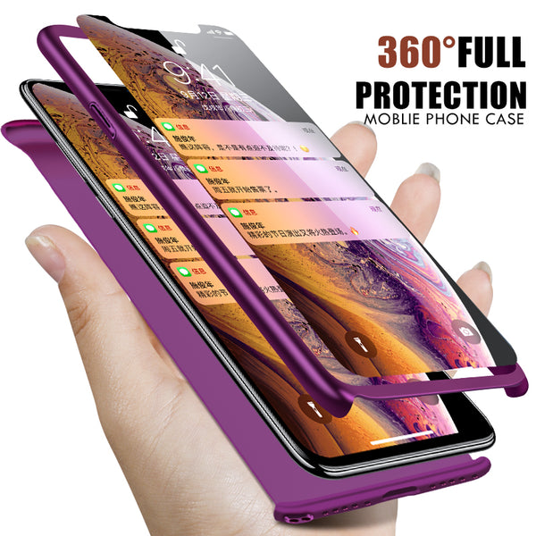 Phone Case - Luxury 360 Degree Full Cover Shockproof Phone Case For iPhone X/XS/XR/XS Max 8/7 Plus