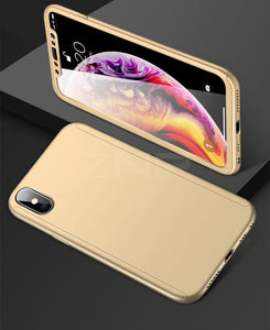 Luxury Tempered Glass 360 Full Cover Case For iPhone X XR XS Max