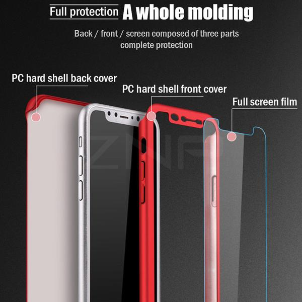 Phone Case - Luxury 360 Degree Full Cover Phone Case With Free Screen Film For iPhone X/XS/XR/XS Max(Buy 2 Get 10% off, 3 Get 15% off)