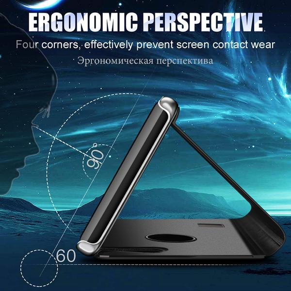 Phone Case - Luxury Full Protective Flip Stand Smart Mirror View Case Cover For iPhone X 8/7 Plus( Buy 2 Get 10% off, 3 Get 15% off )