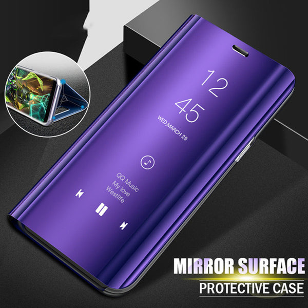 release date: 89f21 50801 Phone Case - Luxury Smart Mirror Flip Phone Case For Samsung Galaxy S9/S8  Plus Note 9/8