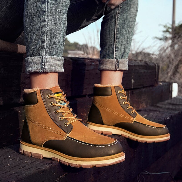 2018 Men Fashion Suede Warm Casual Boots