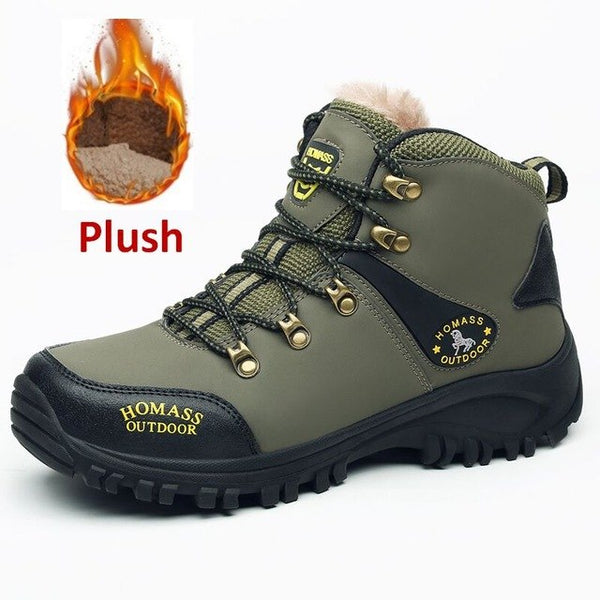 New Warm Fur&Plush Lace Up High Top Snow Boots (Extra Buy 2 Got 10% Off, 3 Got 15% Off ,4 Got 20% Off Now)