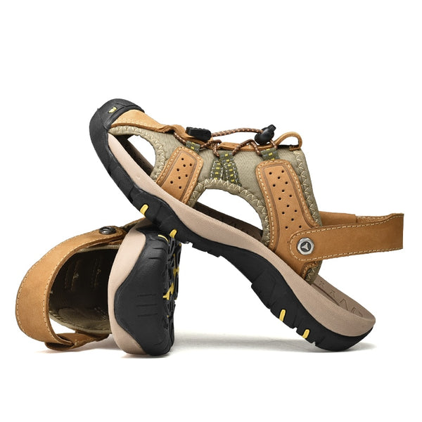 Kaaum New Genuine Leather Beach Sandals Summer Shoes