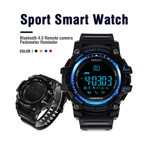 Smart Watch - Waterproof Pedometer Stopwatch Smartwatch Message Reminder Wristwatch for Android IOS