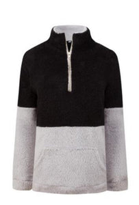 Clothing - Plush Stand Collar Women Sweaters