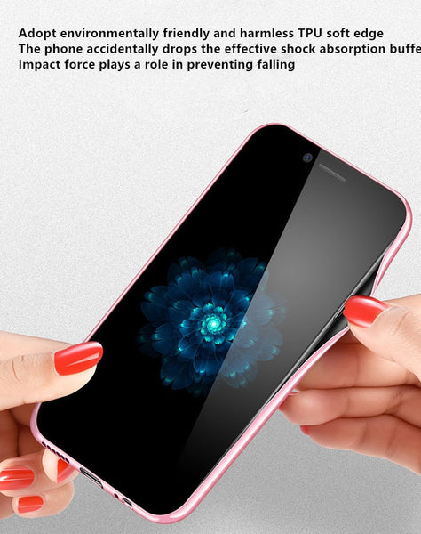 Phone Accessories - Soft Silicone Edge Tempered Glass Back Cover For Samsung Galaxy