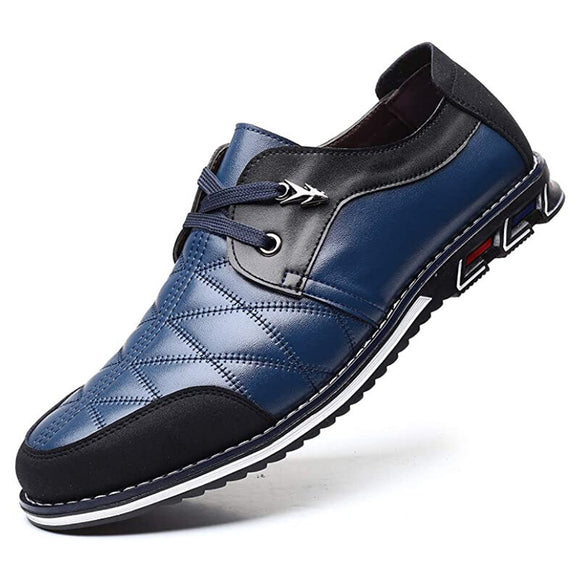 Men Genuine Leather Casual Lace Up Shoes