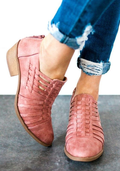 Cute Comfortable Women Leather Booties