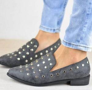 Shoes - New Fashion Flock Rivet Lightweight Shoes