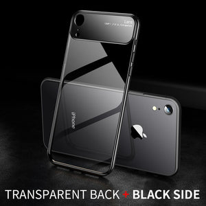 Phone Case - Luxury Ultra Thin Lens Glass Transparent Acrylic Phone Case For iPhone X/XS/XR/XS Max 8/7 Plus