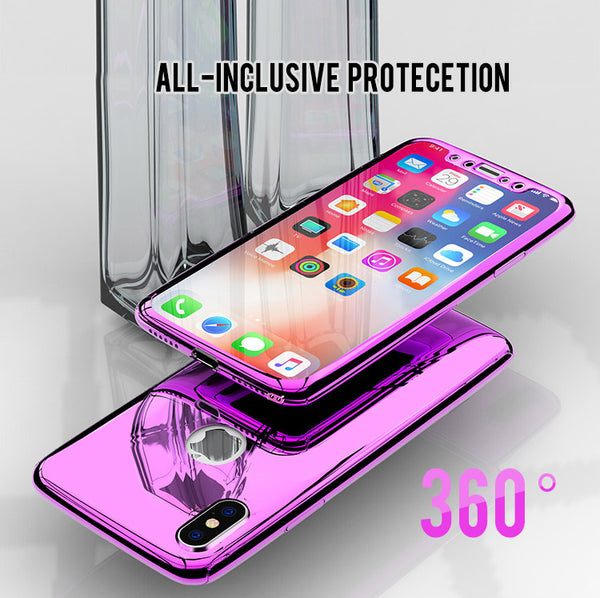 Phone Case - Luxury Bling Mirror 360° Full Protection Case For iPhone X 8 7 6S 6/Plus 5 5S SE