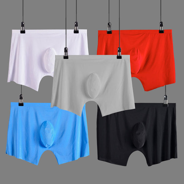 Underwear - Ice silk Seamless u convex design very soft sexy male underpants