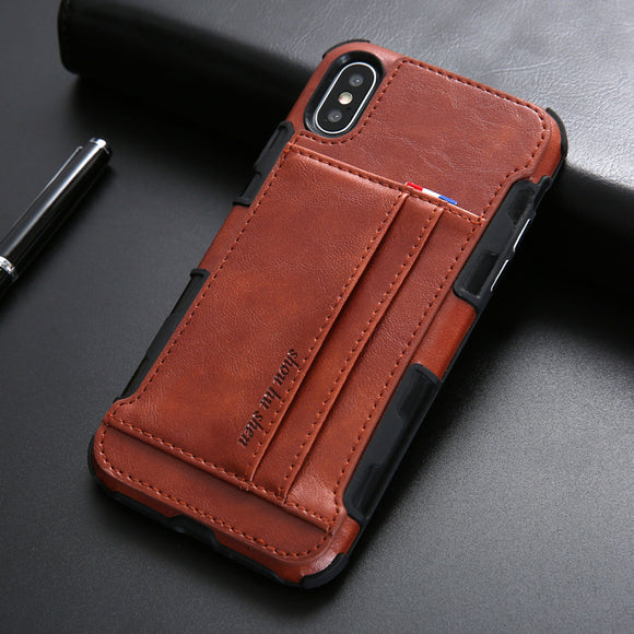 Luxury Leather Protective Case for iPhone X XR XS Max