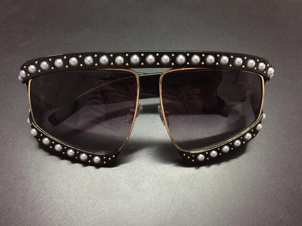 Sunglasses - Italian Brand Designer Luxury Big Pearl Oversize Sunglasses (Buy 2 For Extra 10% OFF!)-OLD2
