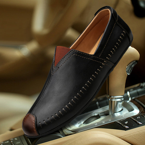 2019 Men Fashion Casual Comfortable Genuine Leather Slip on Shoes