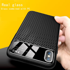 Light Carry Anti-Knock Breathable Simple Case For iphone 7 8 Plus X