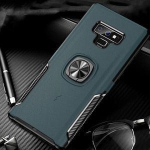 Phone Case - Luxury Fashion Creative Hidden Magnetic Ring Holder Case For Samsung