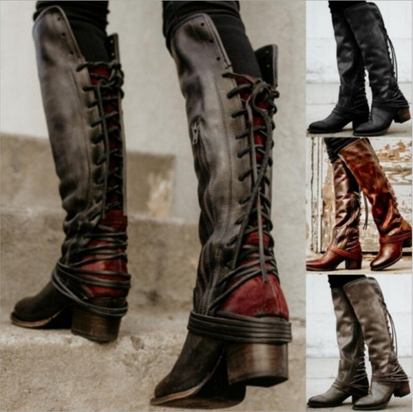 Shoes - 2018 New Women's Vintage Knee High Boot(Buy 2 Got 5% off, 3 Got 10% off Now)