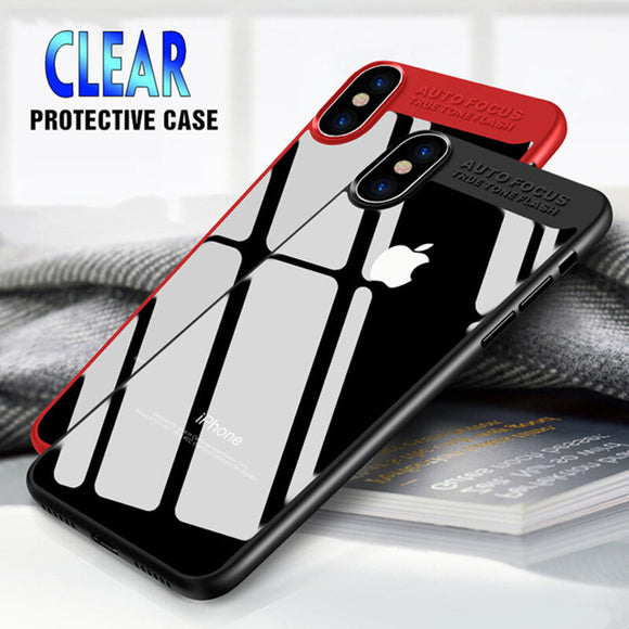Phone Case - Luxury Hybrid Clear Arcylic & Soft TPU Protective Phone Case For iPhone XS/XR/XS Max 8/7 Plus