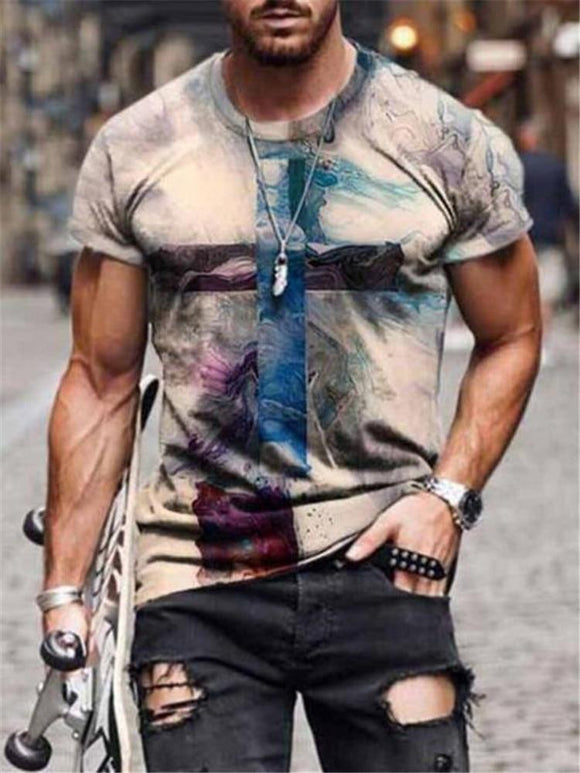 2021 Summer New Mens Oversized Vintage Short Sleeve T Shirts (B Collection)