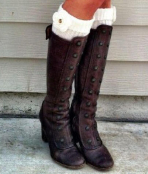 9f6e8429123 Boot - Vintage PU Leather Gladiator Boots