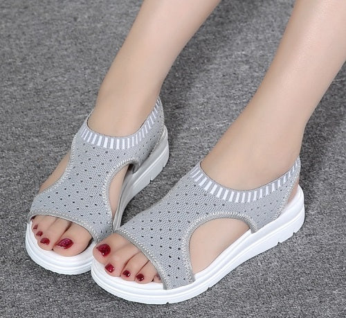 Women's Sandals-2018 Summer Platform Breathable Comfort Walking Sandals