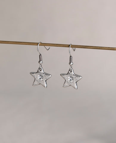 Star Shine crystal drop earrings