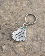 Love You Just The Way You Are Key Ring