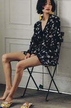 #0008 Loose Coat in Floral Print with Long Butterfly Sleeves
