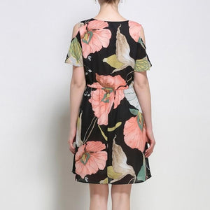 bZRD3301 Floral Pleated Dress