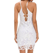 #D22647 White Lace Floral Luxe Party Dress