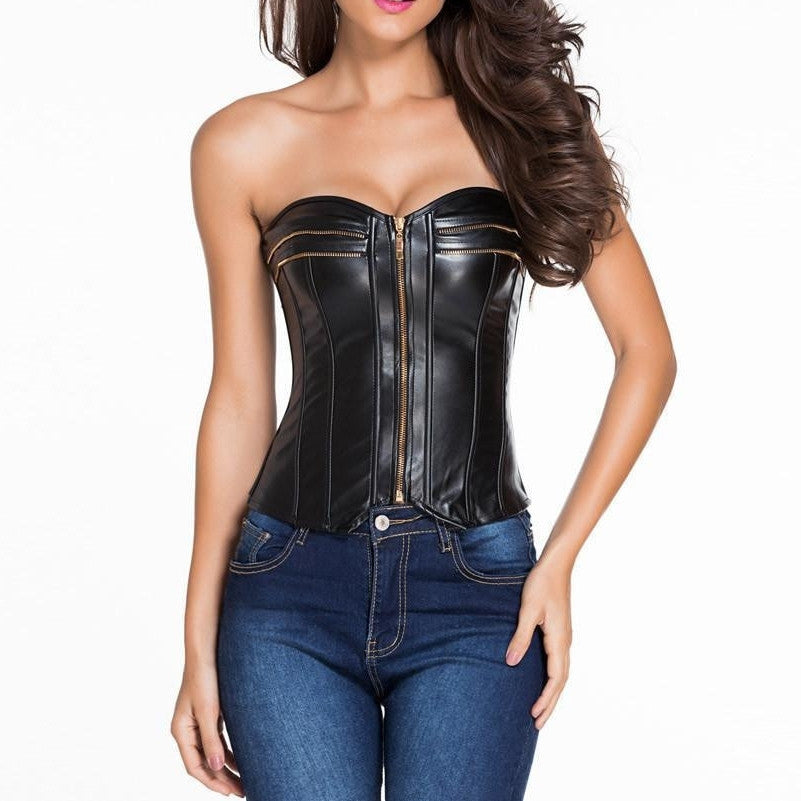 #D5334 New Style Leather over Bust Sexy Corset