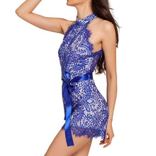 #D64028 Blue Lace Nude Illusion Stylish Romper
