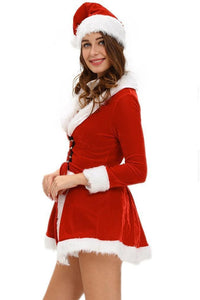 #D7276 Two Piece Chic Velvet Santa Costume