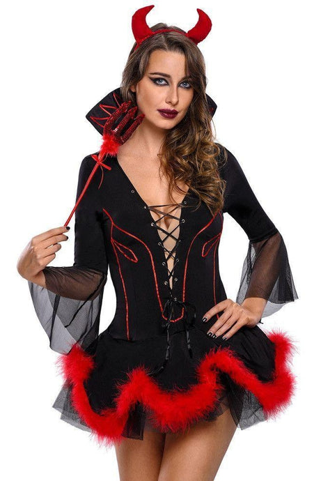 #D8297 Plus Size Miss Iblis Devil Costume