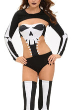#D8912 Halloween Seductive Skeleton Costume
