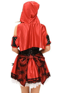 #D8978 4pcs Miss Red Riding Hood Costume