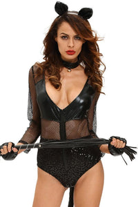#D8985 Sexy Midnight Cat Costume