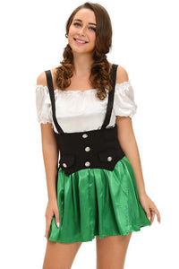 #D8986  Shamrock Sweetie 2pcs Beer Girl Costume