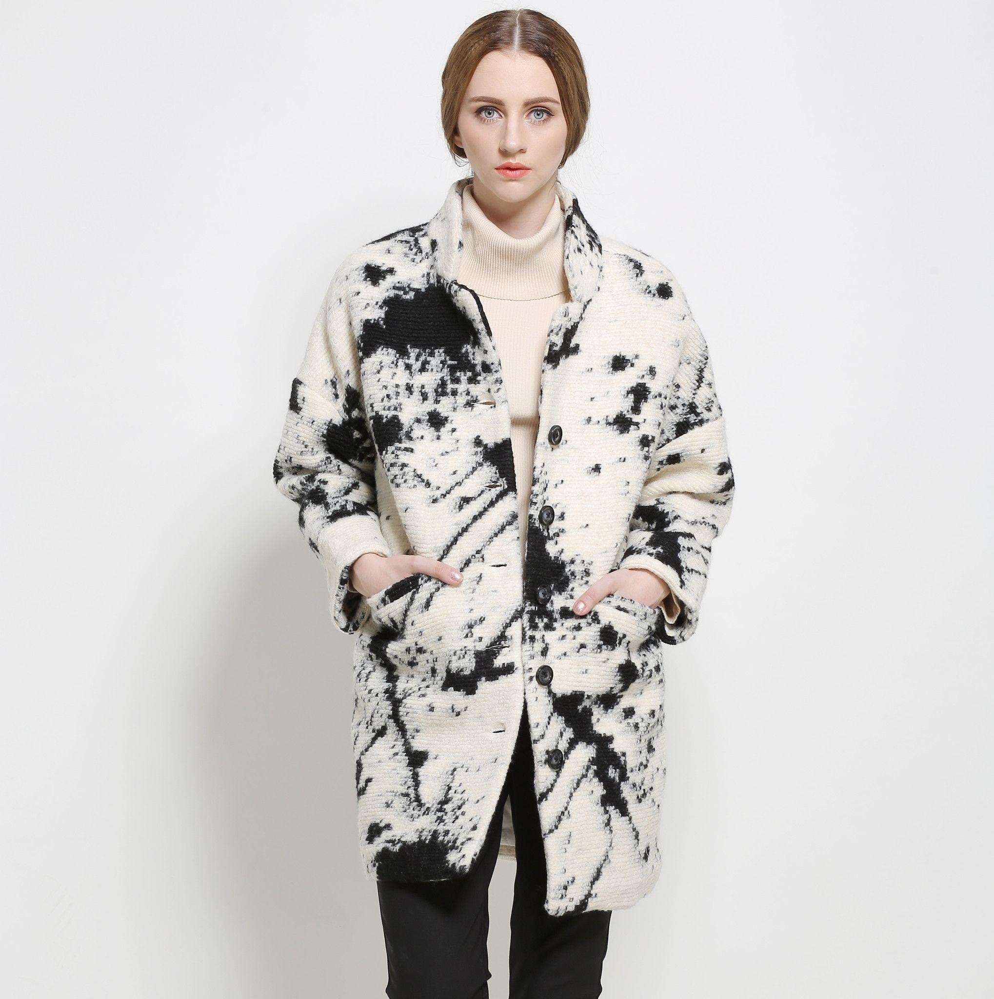 iIMC100026  Mid-length Wool Coat