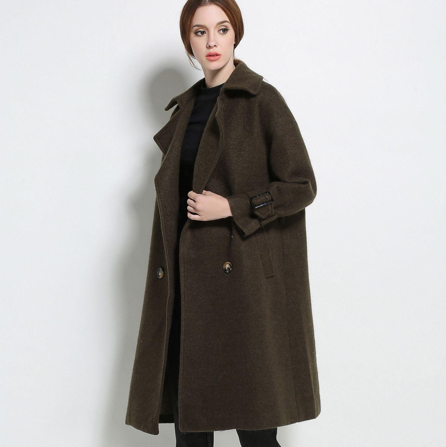 pIMC10066 Solid Color Wool Coat with Lapels