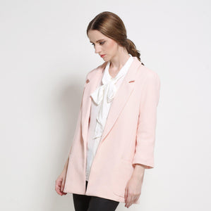 sIMC10025 Solid Color Coat with Suit Lapels