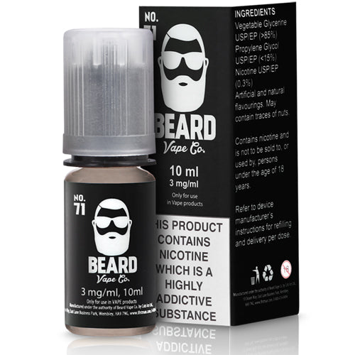 no-71-e-liquid-by-beard-vape-co 10ml 12mg